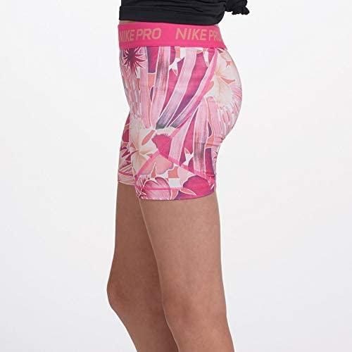 "Nike Pro Girl's 4"" Compression Training Spandex Shorts: Clothing"