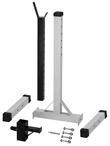 DOUDO Pair of Adjustable Standard Solid Steel Squat Stands Detachable Barbell Stands : Sports & Outdoors