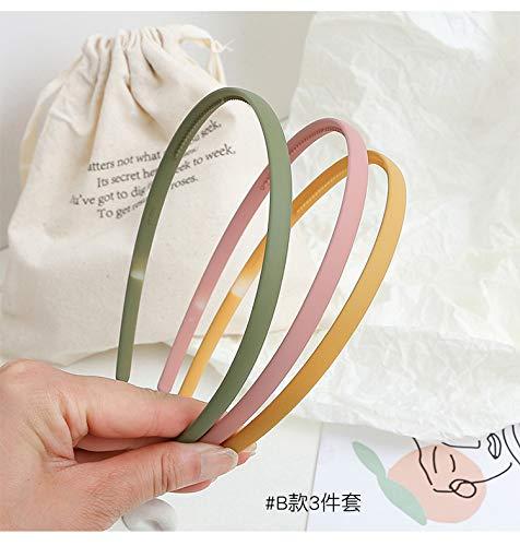 8mm Plastic Headbands Hard Teeth Headbands Thin Simple Headands For Girls Kids Teens Women : Beauty