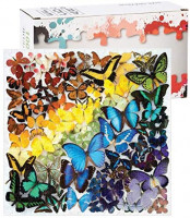 Ecstasi 1000 Pcs Jigsaw Puzzle for Adult and Kids, Various Butterfly Blue Yellow Purple Red Green, Activity for Parent Children Decorative Paintings Making at Home, Excise Thinking Toy Gift Family: Toys & Games