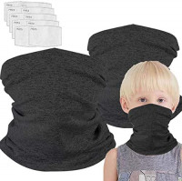Neck Gaiter with Filters for Girl Boy, Magical Multi Funtion, Bandana, Half Face Protective Balaclava, Kids Headwear, Toddler Headgear, Infinity Scarf, Safety Cover for Saliva and Anti-Dust Protection: Clothing