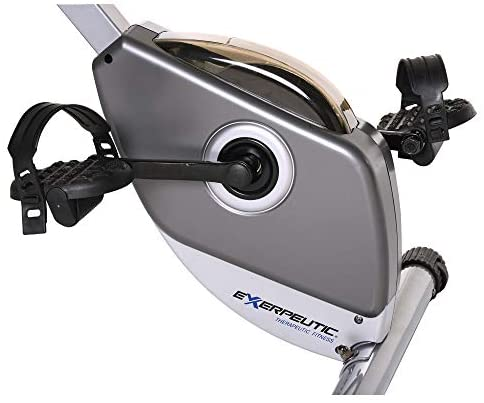 Exerpeutic Folding Magnetic Upright Exercise Bike with Pulse : Exercise Bikes : Sports & Outdoors