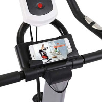 Auvem Mute Spinning Gift Work Out Bicycle Weight Loss Fitness Equipment Fixed Indoor Bike Comes with Tablet Stand Comfortable Cushion (Black) : Sports & Outdoors