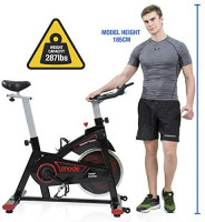 SNODE Indoor Cycling Bike - Stationary Spin Bike, Exercise Bike with Tablet Holder, LCD Monitor for Professional Cardio Workout, Indoor Home Cardio Exercise Training : Sports & Outdoors