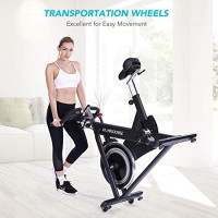 MaxKare Magnetic Exercise Bikes Stationary Belt Drive Indoor Cycling Bike with High Weight Capacity Adjustable Magnetic Resistance w/LCD Monitor : Sports & Outdoors