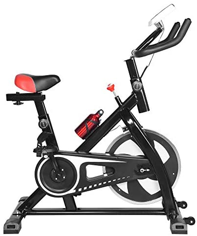 Sinwo Indoor Cycling Bike Stationary Spinning Bicycle Ultra-Quiet Exercise Bike Home Bicycle Fitness Equipment - Ship from US (Black) : Sports & Outdoors