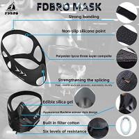 FDBRO Sports Mask Pro Workout Training Mask Fitness, Running, Resistance, Cardio, Endurance Mask for Fitness Training Sport Mask (Black Camouflage, L) : Sports & Outdoors