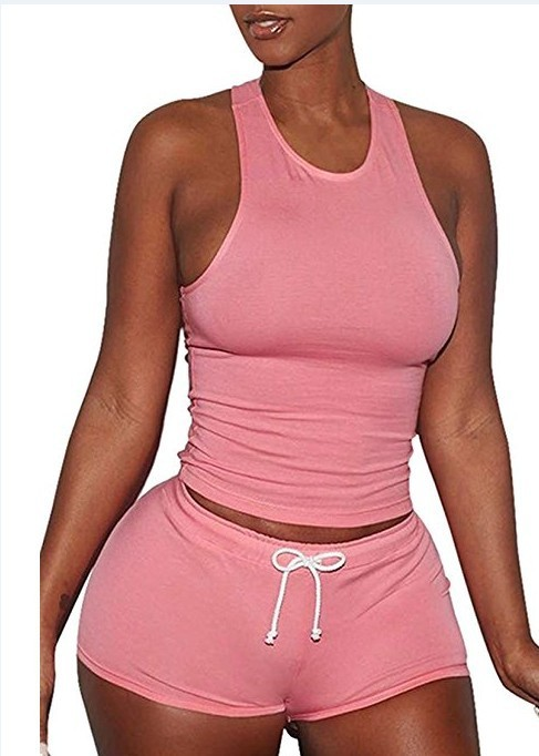 American Women's Camisole Short Strapless Sexy Slim Slimming Two-piece Suit