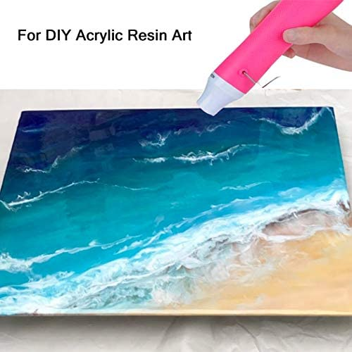 Bubble Removing Tool for Epoxy Resin and Acrylic Art, DIY Glitter Tumblers, Specially-Designed Heat Gun for Making Acrylic Resin Travel Mugs Tumblers to Remove Air Bubbles (Pink): Arts, Crafts & Sewing