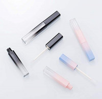 MEOLY Empty Lipstick Tube DIY 3.5ml Lipstick Tube Lip Glaze Tube Empty Lip Balm Bottle Storage Cosmetic Lip Gloss Container, 10pcs Packed(Pink with Blue) : Beauty
