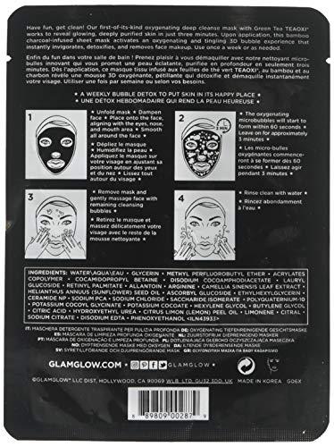Glamglow Bubblesheet Oxygenating Deep Cleanse Mask By Glamglow for Women - 1 Pc Mask : Beauty