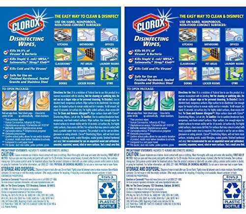 Clorox Disinfecting Wipes Value Pack, Crisp Lemon and Fresh Scent - 3 Pack - 35 Each: Health & Personal Care