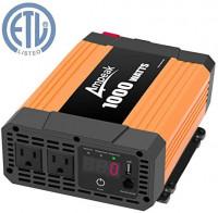 Ampeak 1000W Power Inverter Truck/RV Inverter 12V DC to 110V AC Converter with Dual AC Outlets 2.1A USB Modified Sine Wave Inverter: Car Electronics