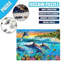 ANGELGG 1000 Pieces Jigsaw Puzzles Family Entertainment Intellectual Game Education Decompression Toys for Adults & Kids (Animal 4): Toys & Games
