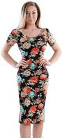 TAM WARE Women's Sweetheart Short Sleeve Midi Dress at Women's Clothing store