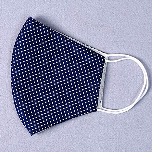 LMRYJQ Washable Reusable 2Pc Activated Carbon Earloop Mouth Face Guard Reuse Cotton Casual Fashion Unisex for Cycling Office Outdoor ( Navy 2PC ): Home & Kitchen