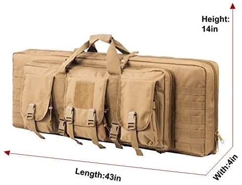 ARMYCAMOUSA 42 Inch Double Rifle Bag Outdoor Tactical Carbine Cases Water dust Resistant Long Gun Case Bag for Hunting Shooting Range Sports Storage and Transport : Sports & Outdoors