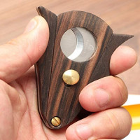 GALINER Cigar Cutter Lock System Wood Stainless Steel Double Cut Blade Cigar Guillotine in Gift Box: Health & Personal Care