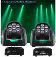 LED Moving Head Light RGBW 4 Color Wash Zoom 7×12w Beam Stage Lighting DMX for Show DJ Disco Bars Wedding Live House Nightclub Party Church Lights (4 pack): Musical Instruments