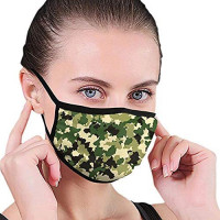 ROOSSI Adjustable Earloop Fashion Mask Washable Reusuable Face Cover Anti Dust Mouth Mask for Men and Women: Clothing