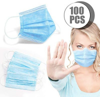 100pcs Disposable with Elastic Ear Loops Soft & Comfortable, Adjustable Hidden Hidden Nose Strips