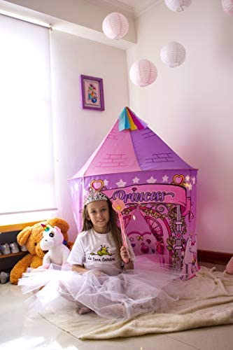 La Rana Catalina Princess Castle Play Tent - Unicorn Toys for Toddler and Kids - Indoor and Outdoor Games for Girls and Boys - Best Birthday Gifts for Children - Portable Playhouse, Teepee and Houses: Toys & Games