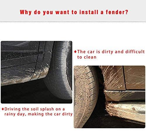 for Nissan Sylphy 2012-2016 Auto Mud Flaps Splash Guards Front&Rear Fender 4 Pieces Set PP Plastic Black with Mud Guard Screw: Automotive