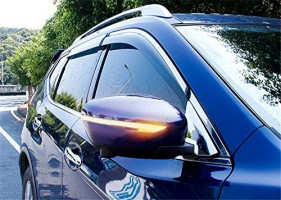 YUZHONGTIAN 14-19 for Nissan Rogue/X-Trail, 16-19 Qashqai,16-19 Murano Car Accessories Side Door Rear View Mirror Signal Lights 2pcs/Pair (Smoked Black): Automotive