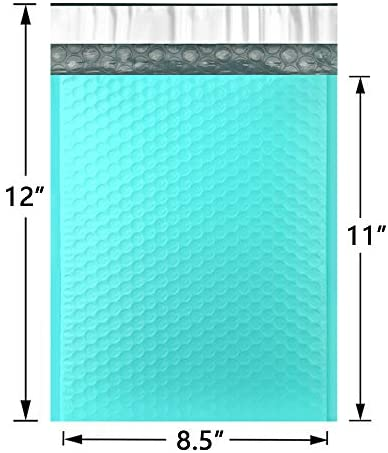 UCGOU 8.5x12 Inch Teal Bubble Mailers Padded Envelopes Self Seal Mailing Envelopes Pack of 25 : Office Products