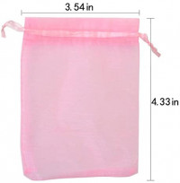 """Tojwi Organza Bags 50pcs 3.54""""x4.33""""(9x11cm) Drawstring Pouches Jewelry Candy Gift Favor Bag for Party Wedding Storage Bags: Home & Kitchen"""