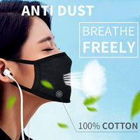 FASHIONOLIC 4 Pack Fashion Protective Face Mask, Unisex Anti Dust 100% Cotton Mouth Mask, Washable, Reusable: Beauty