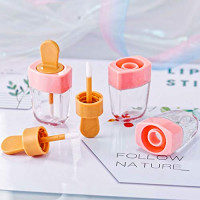 Cotiny 20 Pack Empty Lip Gloss Containers Pink Ice Cream Shaped Lip Gloss Tubes Refillable Lip Balm Tube Bottles for DIY Cosmetics : Beauty