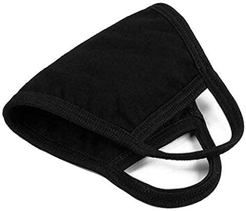 Face Masks – 100% Cotton Reusable & Washable Adjustable Ear Straps– Protection from Dust, Pollen, Pet Dander, Other Airborne Irritants(Black): Home Improvement