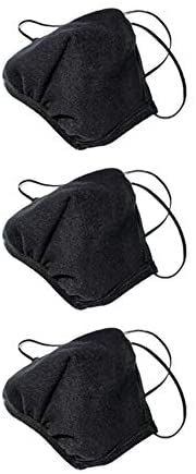 Los Angeles Apparel 3 Pack Face Mask Protective Reusable Unisex Fashion Black [Same Day Shipping] [Made in USA]: Health & Personal Care