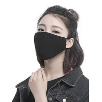 8pcs/Pack Dust Face Masks Cover Breathable Reusable for Outdoor Sport Half Face Earloop Face Masks Cover Dust Pollen Cotton Black Face Mask Cover : Beauty
