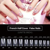 500PCS False Nails, Clear Acrylic Nail Tips, French Nail Tips,Clear Lady French Acrylic Style, 10 Multi-Sizes Fit for Nail Salons and DIY Nail Art: Beauty