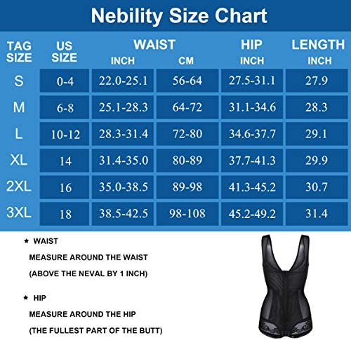 Nebility Women Waist Trainer Bodysuit Double Slim Full Body Shapewear Breathable Smooth Corset at Women's Clothing store