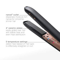 Panasonic Nanoe Hair Styling Iron EH-HS99-K, Flat Iron Hair Straightener with Ceramic Plates and Patented nanoe Technology for Smooth, Shiny Hair, 1 Count : Beauty