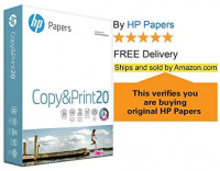 HP Printer Paper Copy&Print 20lb, 8.5 x 11, 10 Ream Case, 5000 Sheets, Made in USA, Forest Stewardship Council (FSC) Certified Resources, 92 Bright, Acid Free, Engineered for HP Compatibility, 200060C: Office Products