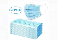 50Pcs Disposable 3-PLY Non-woven Earloop Face Respirator for Children and Adults-Blue: Home Improvement