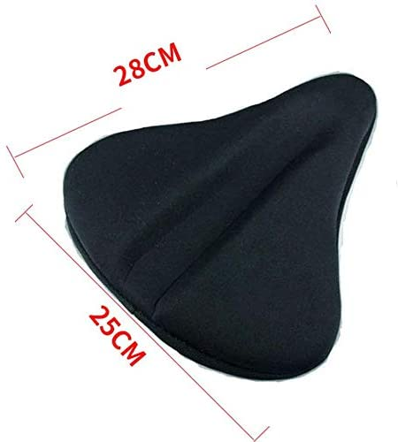 Large Wide Bike Seat Cover - Memory Foam Extra Soft Bike Seat Cushion for Women Men, Comfortable Exercise Bicycle Saddle Cushion Fits Cruiser and Stationary Bikes, Spinning with Waterpoof Cover : Sports & Outdoors
