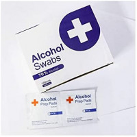 Ruizhi Alcohol Prep Pads 70% Alcohol 400 Pieces (Four Boxes): Health & Personal Care