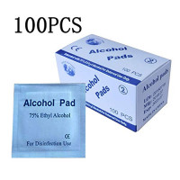 100PCS Disposable Alcohol Prep Pads Skin Cleansing Wipes Saturated with 75% Ethanol Alcohol Extemal Use Medical Alcohol for Home or Outdoor: Industrial & Scientific
