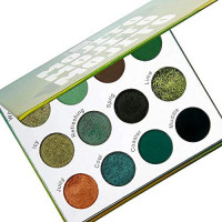 The Beauty Crop - Mojito Eyeshadow Palette | Highly Pigmented Shades | Richly Toned Palette | Comes in Matte, Creamy Metallic & Glitter Finish | Long Wearing | Makeup Kit | Cruelty Free : Beauty