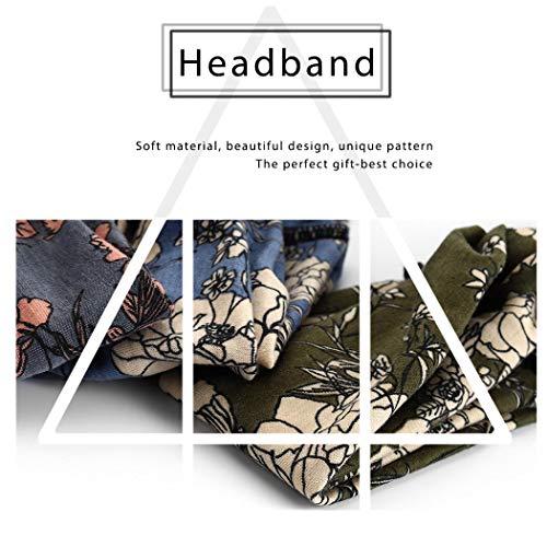 Catery Boho Headbands Criss Cross Headband Headpiece Bohemia Floal Twist Head Wrap Hair Band Vintage Stylish Elastic Turban Fabric Hairbands Fashion Hair Accessories for Women(Pack of 3) (Boho) : Beauty