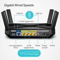 TP-Link AC4000 Smart WiFi Router - Tri Band Router, MU-MIMO, VPN Server, Advanced Security by Homecare, 1.8GHz CPU, Gigabit, Beamforming, Link Aggregation, Rangeboost, Works with Alexa(Archer A20): Computers & Accessories