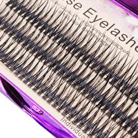 Scala 120pcs 8mm/10mm/12mm/14mm/16mm to Choose Fish Tail Design 0.1 C Curl 3D Individual Mink False Eyelashes Extension Soft Black Fake False Eye Lashes (12mm) : Beauty