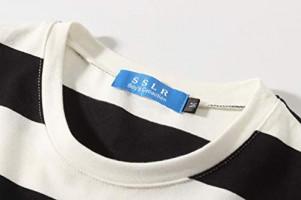 SSLR Big Boys' Cotton Crew Neck Casual Long Sleeves Stripe T-Shirt: Clothing