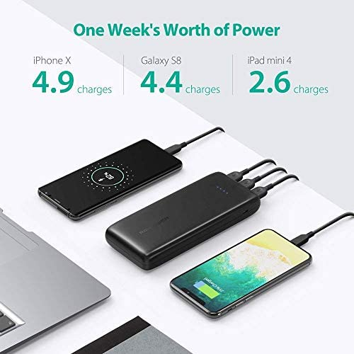 RAVPower Portable Charger 22000mAh External Battery 22000 Power Banks 5.8A Output 3 Ports Phone Charger USB Battery Pack Charging Compatible with iPhone 11 Pro Max iPad Samsung Galaxy and More