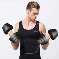 Anbo 20KGS/44LB Adjustable Dumbbell Weight Set, Home Fitness Barbell Plates Muscle Body Trainning, Gym Equipment Dumbbell for Man Women : Sports & Outdoors